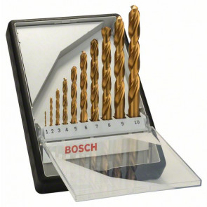Bosch Sada vrtáků do kovu Robust Line HSS-TiN, 10dílná, 135° 1; 2; 3; 4; 5; 6; 7; 8; 9; 10 mm, 135°