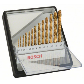 Bosch Sada vrtáků do kovu Robust Line HSS-TiN, 13dílná, 135° 1,5; 2; 2,5; 3; 3,2; 3,5; 4; 4,5; 4,8; 5; 5,5; 6; 6,5 mm, 135°