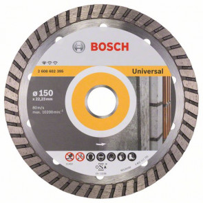Bosch Diamantový dělicí kotouč Standard for Universal Turbo 150 x 22,23 x 2,5 x 10 mm