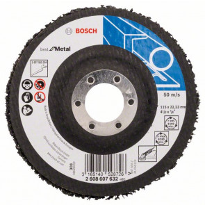 Bosch Čisticí kotouč N377, Best for Metal 115 mm, 22,23 mm, SiC