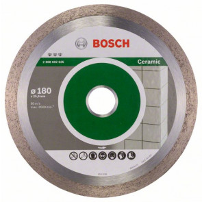 Bosch Diamantový dělicí kotouč Best for Ceramic 180 x 25,40 x 2,2 x 10 mm