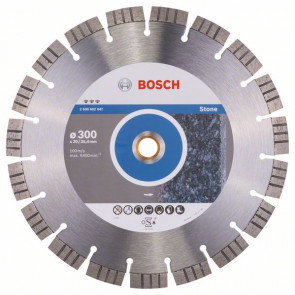 Bosch Diamantový dělicí kotouč Best for Stone 300 x 20,00+25,40 x 2,8 x 15 mm