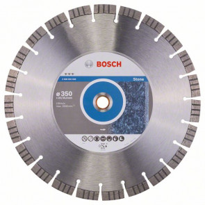 Bosch Diamantový dělicí kotouč Best for Stone 350 x 20,00+25,40 x 3,2 x 15 mm