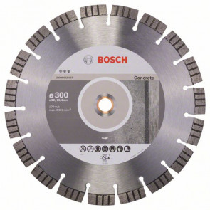 Bosch Diamantový dělicí kotouč Best for Concrete 300 x 20,00+25,40 x 2,8 x 15 mm