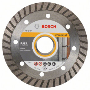 Bosch Diamantový dělicí kotouč Standard for Universal Turbo 115 x 22,23 x 2 x 10 mm