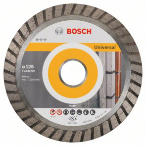 Bosch Diamantový dělicí kotouč Standard for Universal Turbo 125 x 22,23 x 2 x 10 mm