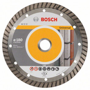 Bosch Diamantový dělicí kotouč Standard for Universal Turbo 180 x 22,23 x 2,5 x 10 mm