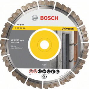 Bosch Diamantový dělicí kotouč Best for Universal 450 x 25,40 x 3,3 x 15 mm