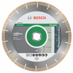 Bosch Diamantový dělicí kotouč Best for Ceramic and Stone 250 x 25,40 x 1,8 x 10 mm