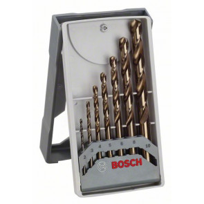 Bosch 7dílná sada vrtáků do kovu Mini X-Line HSS-Co, 135° 2; 3; 4; 5; 6; 8; 10 mm