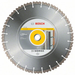 Bosch Diamantový dělicí kotouč Best for Universal 350 x 25,40 x 3,3 x 15 mm