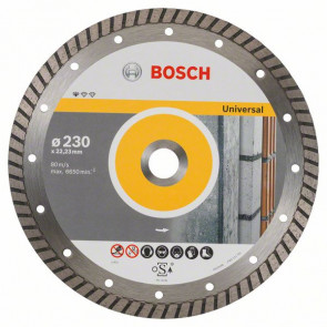Bosch Diamantový dělicí kotouč Standard for Universal Turbo 230 x 22,23 x 2,5 x 10 mm